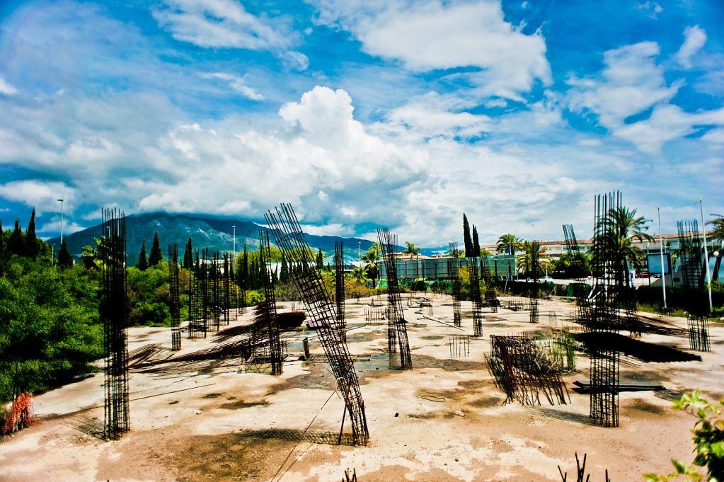 Derelict Construction Site, Puerto Banus, Andalusia, Spain