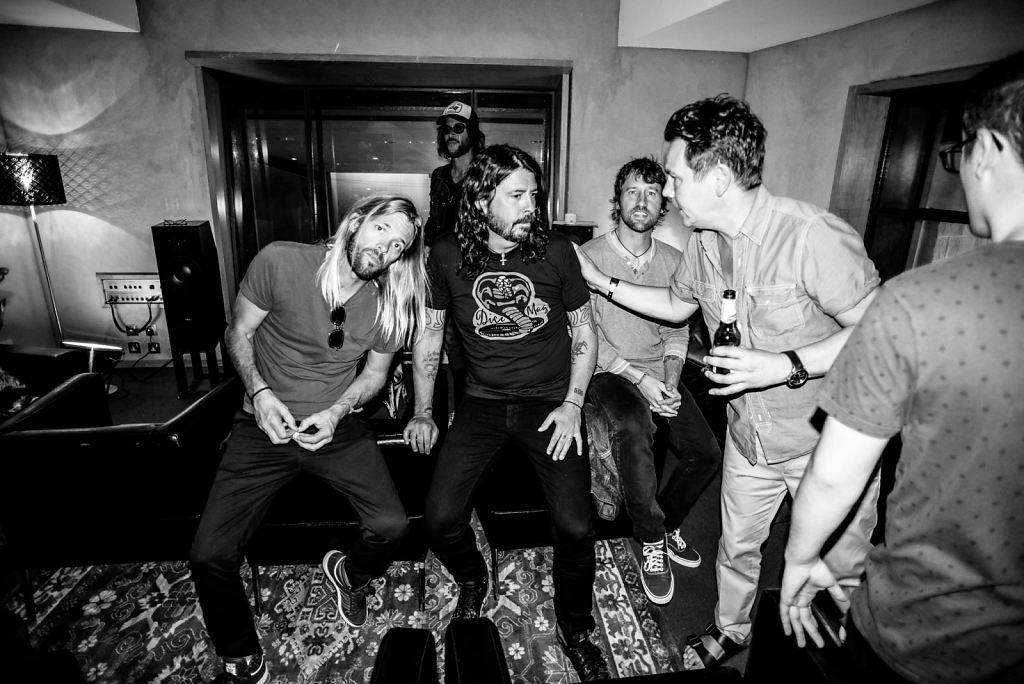 Backstage with the Foo Fighters