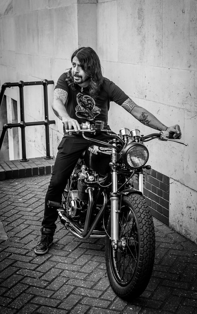 Dave Grohl in the Saddle