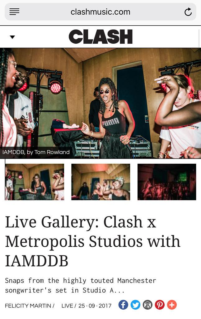 Clash Magazine IAMDDB Tom Rowland Gallery