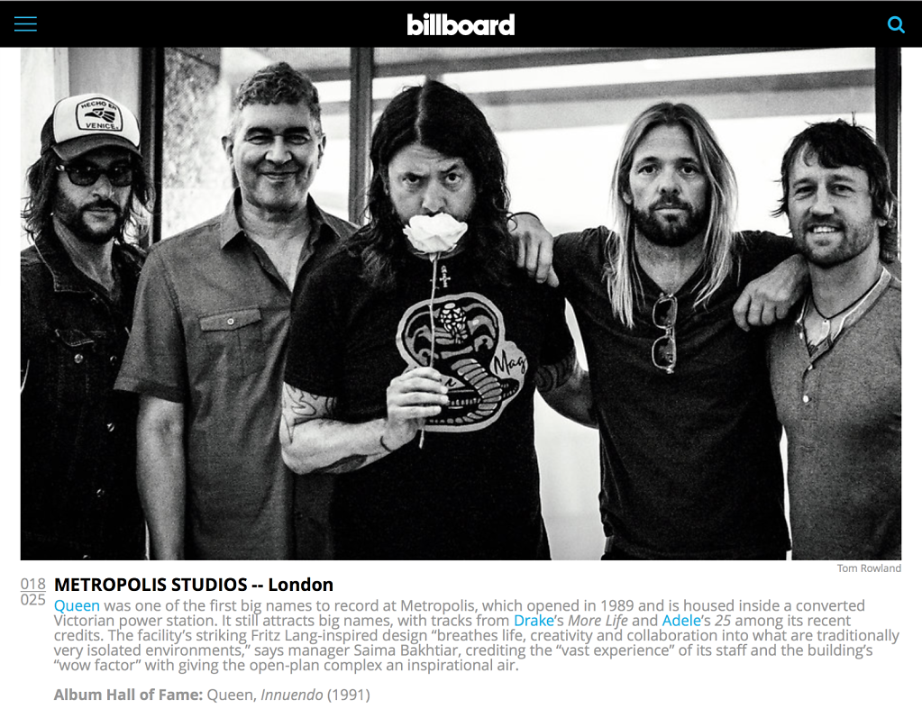 Foo Fighters Metropolis Billboard Magazine