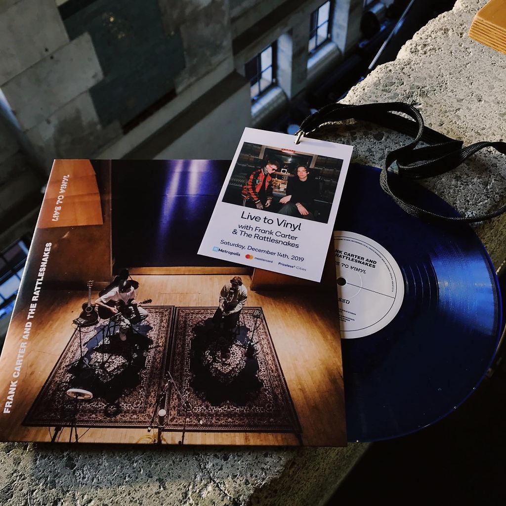 Frank Carter Live to Vinyl at Metropolis artwork